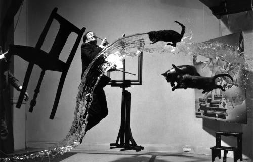 Salvador Dalí photographed by Philippe Halsman. Public domain