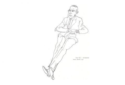 Portrait of Salvador Espriu by Josep Pla-Narbona. CC BY-SA 3.0 - Josep Pla-Narbona / Wikimedia Commons