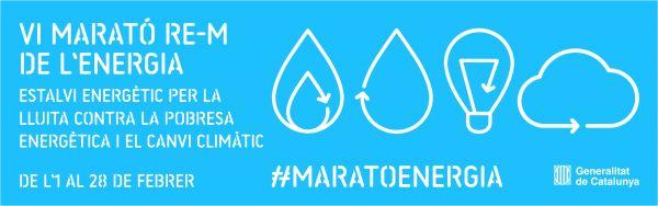 Cartell de la 6a edició de la Marató d'estalvi energètic