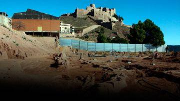 Restos de un asentamiento romano en Cardona