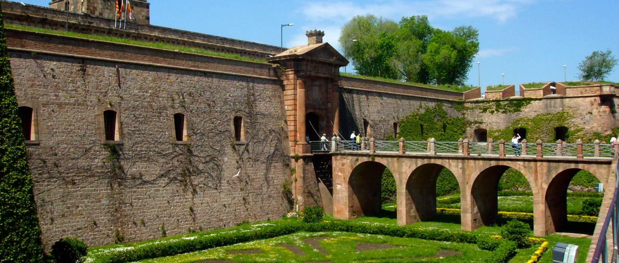 Entrance Moat of Castle of Montjuïc. Public Domain