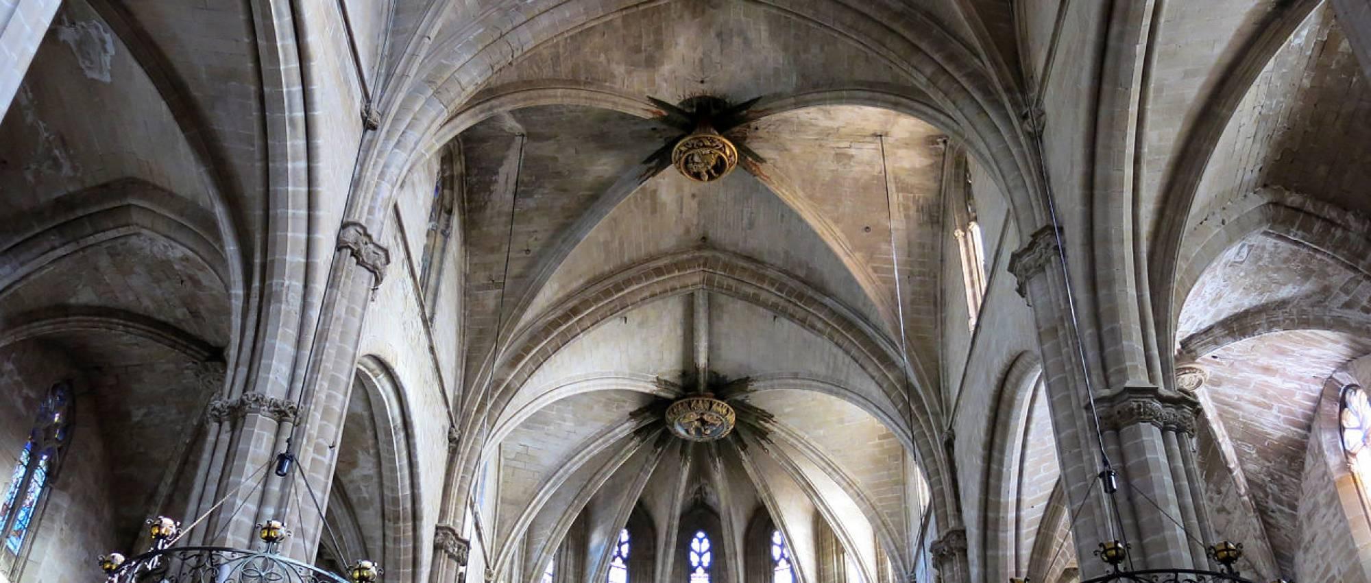 Nau central de la catedral de Sta. Maria de Tortosa. Enric / Wikimedia Commons. CC BY-SA 3.0