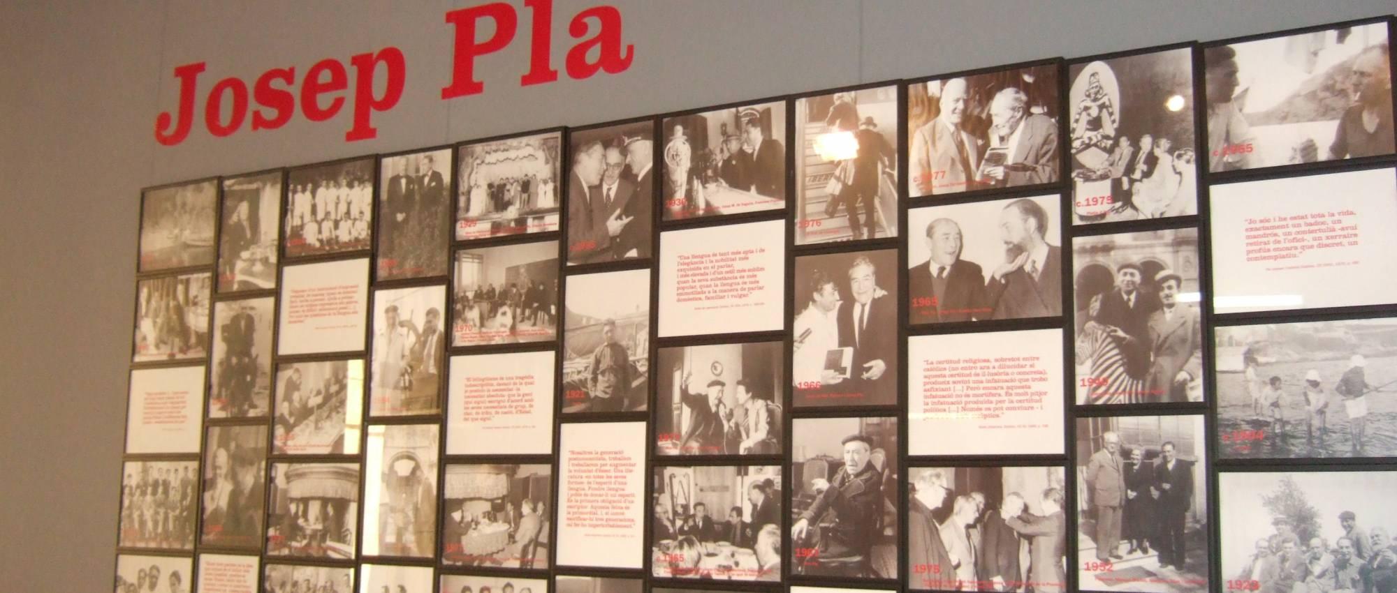 Inici de l'exposició permanent Josep Pla (1897 – 1981). Davidpar / Wikimedia Commons. CC BY-SA 3.