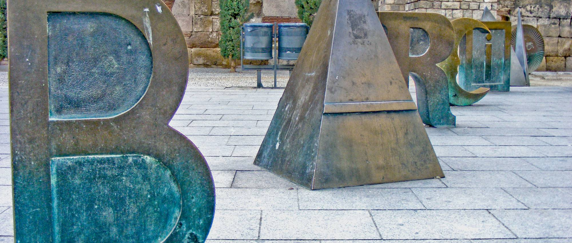 "Joan Brossa: ""Bàrcino"". Xavier Caballe / Wikimedia Commons. CC BY-SA 2.0"