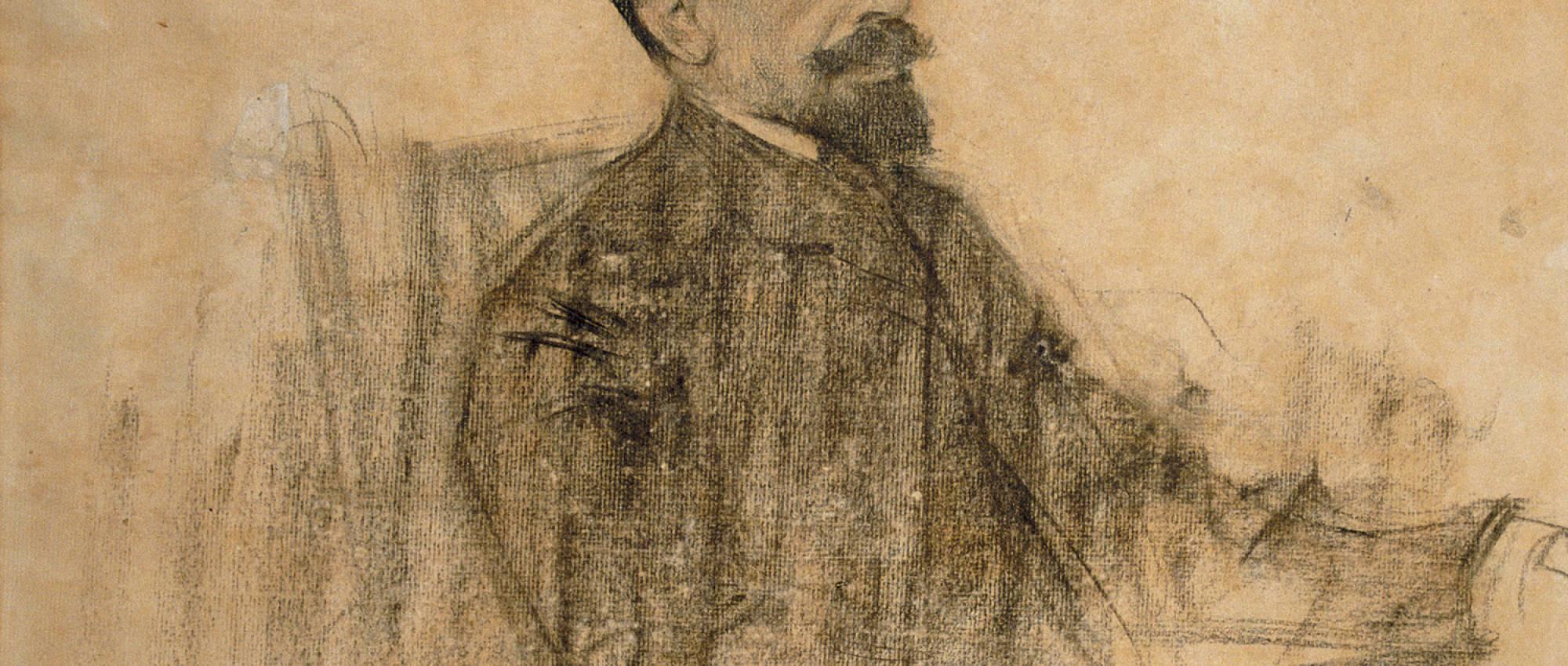 Joan Maragall, vist per Ramon Casas. Domini Públic