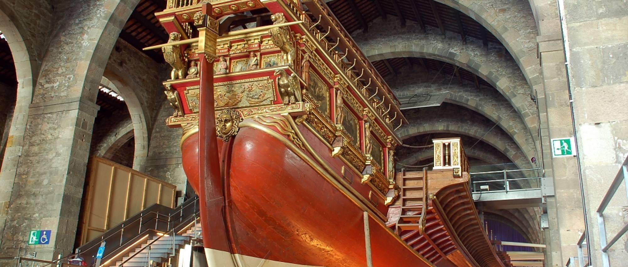 Reproducció de la Galera Reial de Joan d'Àustria al Museu Marítim de Barcelona. CC BY-SA 2.5 - Fritz Geller-Grimm  / Wikimedia Commons