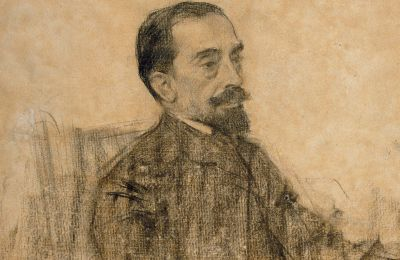 Joan Maragall, vist per Ramon Casas (MNAC). Ramon Casas / Wikimedia Commons. Domini públic